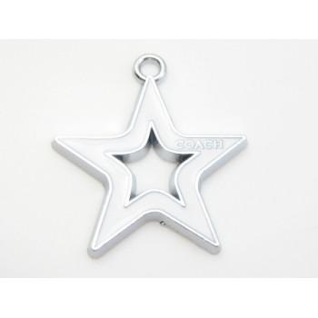 Stjerne med hvid emalje 29 mm