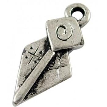Vedhæng i tibet sølv 17 mm