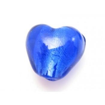 Gals hjerte folieret 12 mm mørk blå - 2 stk