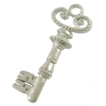 Stor flot sølv nøgle 32 mm