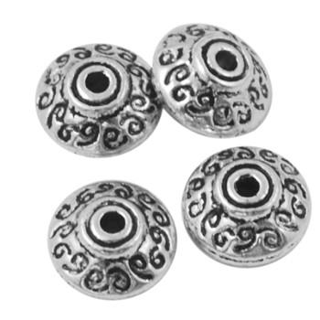 Smuk sølv perle 7 / 1 mm - 6 stk