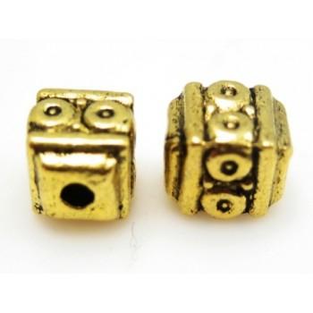Metal guld perler - 3 stk