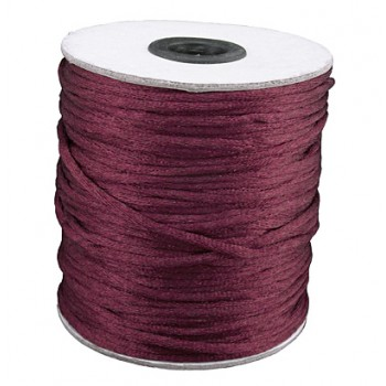 Satin snor 2mm - Bordeaux - 10 m