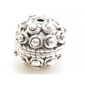 Eksklusiv håndlavet metal perle 14 / 1,2