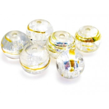 Glas perler klar 8 / 1 mm - 20 stk