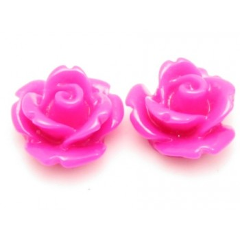 Resin rose pink 11 mm - 2 stk