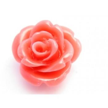 Synt. Koral rose   - koral rød 15 mm - 2 stk