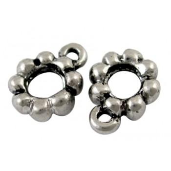 Vedhængeperle i tibet sølv 8,5 / 4 mm - 2 stk