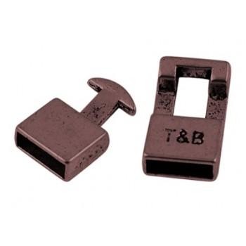 Kraftigt kobber enderør / lås  22 mm / 11 x 3