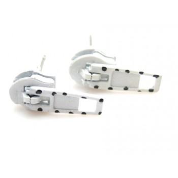 Lynlås ørestikker HVID - 18 mm - super smarte