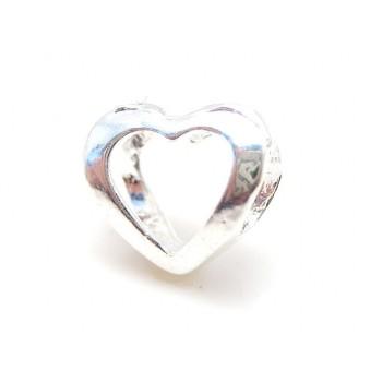 Hjerte i sølv belagt - Meget smukt