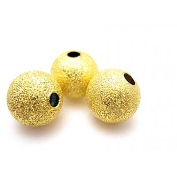 Guld belagt stardust 8 mm - 4 stk