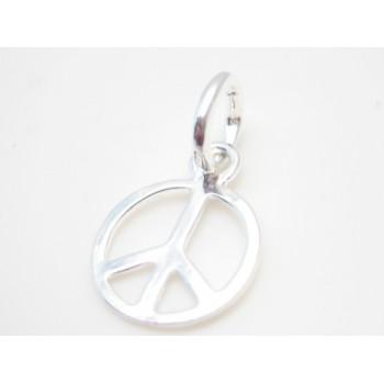 Peace tegn i sølv plate