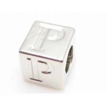 Bogstav  8 x 8 / 4,5 mm - sølv plate - P