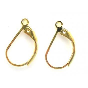 Guld plate øreringe