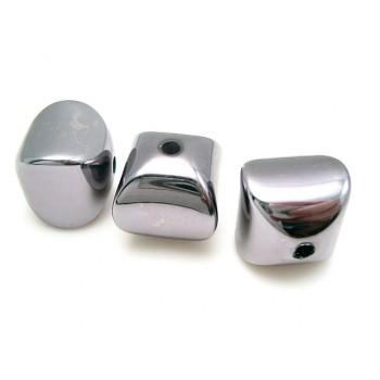 Buet kube i sort metalic  16 / 2,5 mm - 10 STK SUPER PRIS