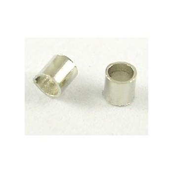 Wire klemme sølv 1,5 mm - 100 stk