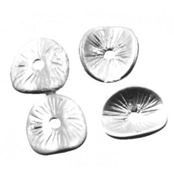 Chips sølv 9,5 mm - 4 stk