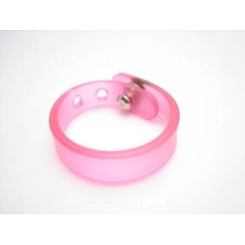Silikonering  rosa - regulerbar