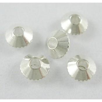 Sølv belagt bicone 4 / 1 mm - 20 stk