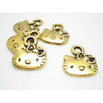 Hello Kitty vedæng guld - 5 stk