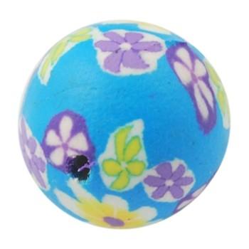 Ler / Fimo perler i smukke farver 12 / 2  mm -6 stk