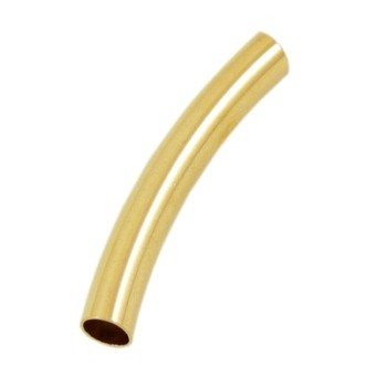 Guld belagte rør 33 x 5 mm / 4 mm - 5 stk