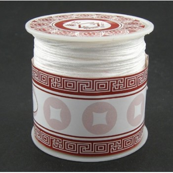 Syntetisk knyttesnor 1 mm - hvid - 40 m