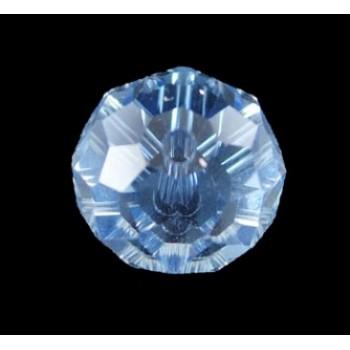 Runde facet glas perler blå 10/7/1 - 6 stk