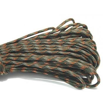 Faldskærmsline army 4 farvet 1 m