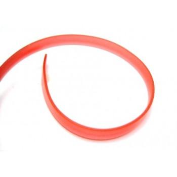 Flad gummi snøre rød 8x2 mm 1 m