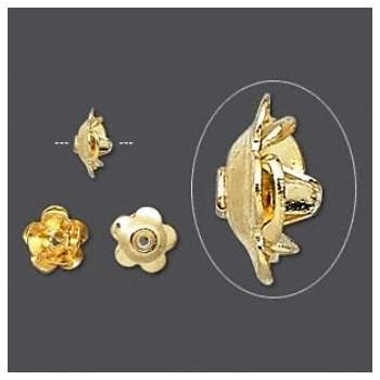 Rose med guld belægning 8 mm - 2 stk