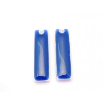 Emalje vedhæng lang  Mørk blå 20 x 6 - 2 stk