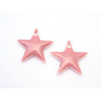 Emalje stjerne 12 mm - GL.ROSA - 2 stk