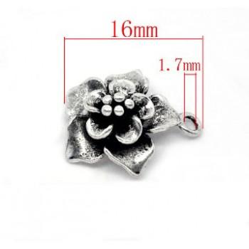 Blomster vedhæng 18 mm