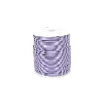 Læder snøre 2 mm - Lys lilla - 1 m