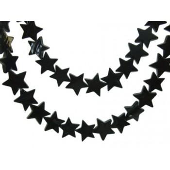 Sort shell stjerne 13 mm - 8 stk