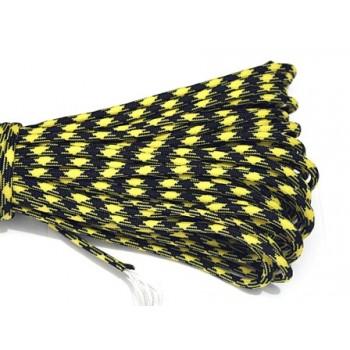 Faldskærmsline sort / gul 1 m
