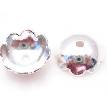 Perleskål sølv belagt 6 mm - 20 stk