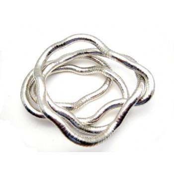 SLANGE halskæde - armbånd - ankelkæde ANTIK SØLV