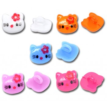 Hello Kitty knapper 14 mm  - 10 stk