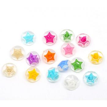 Stjerne knapper 14 mm - 20 stk
