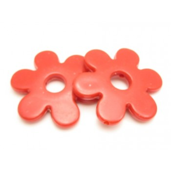 Kæmpe blomst 45 mm - rød - 2 stk