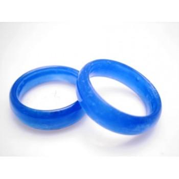 Glas ringe blå - 2 stk
