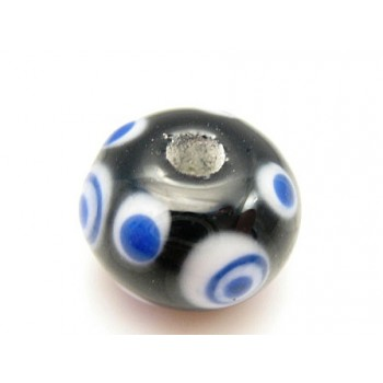 Håndlavet glasperle 12 / 2 mm