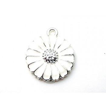 Margurit sølv belagt 18 mm