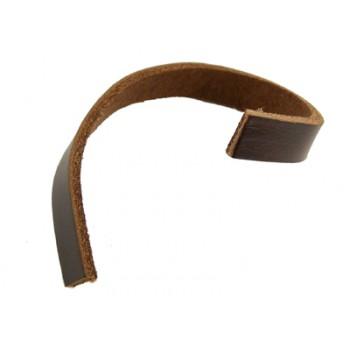 Læder bånd 10 x 1,8 mm BRUN - pr m