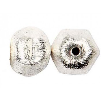 Børstet sølv møtrik 10 mm - 2 stk