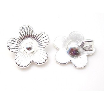Blomst / knap 14 / 2,4 mm - 2 stk