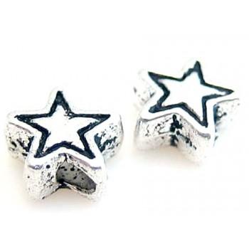 Sølv stjerne 4mm - 10 stk